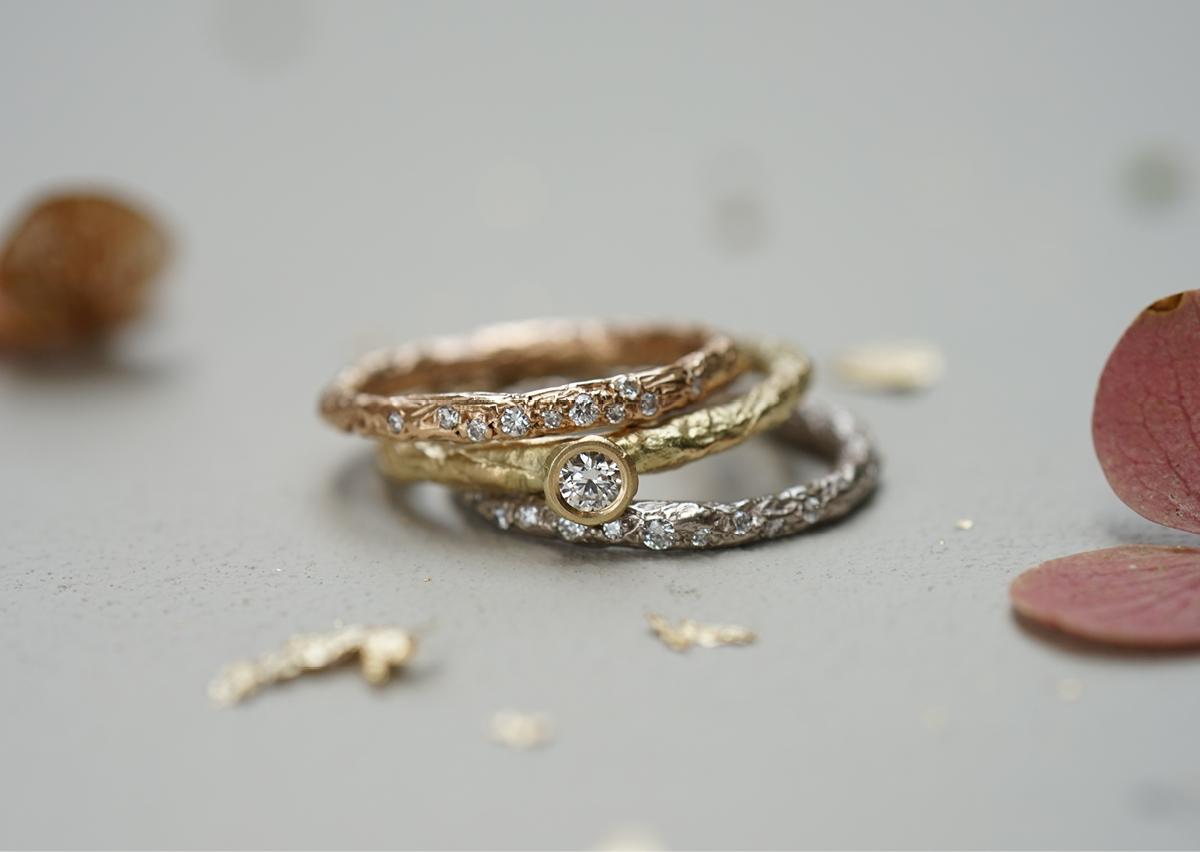 FINGERGLÜCK – Ringe aus Staniolpapier