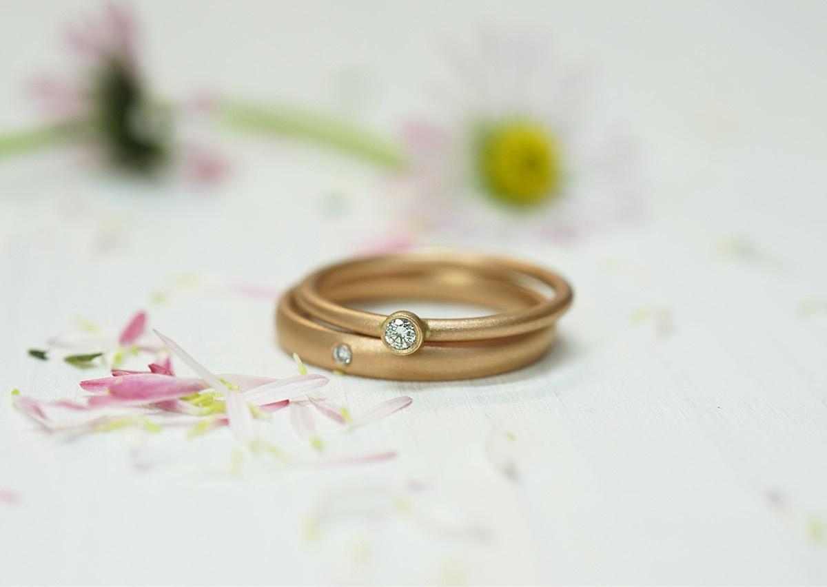 FINGERGLÜCK – Verlobungsringe in Rotgold