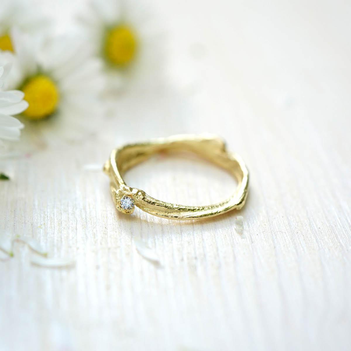 FINGERGLÜCK - Verlobungsringe aus Birkenzweigen