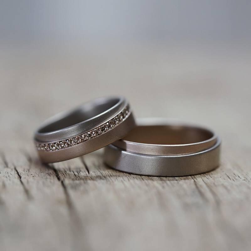 Ringe TANGO – Rosegold und Dawnrose